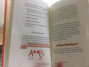 photo of inside the book